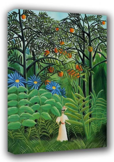 Rousseau, Henri: Woman Walking in an Exotic Forest. Fine Art Canvas. Sizes: A3/A2/A1 (00560)